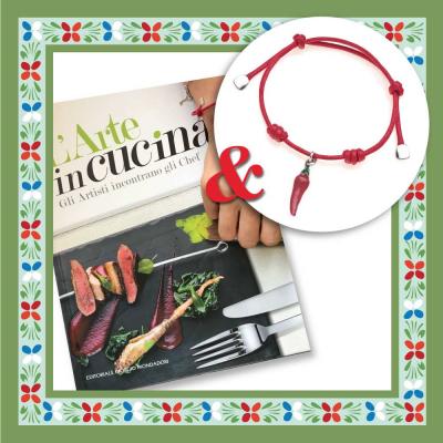 "Libro ""L'arte in Cucina"" & Bracciale Peperoncino"